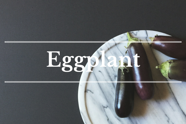 What's in Season: Eggplant | BourbonandHoney.com -- From corn and eggplant to green beans and peaches this 'What's in Season' feature is a collection of the best fruits, veggies and recipes for the month of July.
