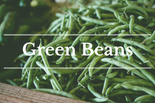What's in Season: Green Beans | BourbonandHoney.com -- From corn and eggplant to green beans and peaches this 'What's in Season' feature is a collection of the best fruits, veggies and recipes for the month of July.