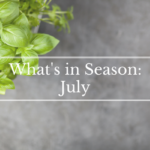 What's in Season: July | BourbonandHoney.com -- From corn and eggplant to green beans and peaches this 'What's in Season' feature is a collection of the best fruits, veggies and recipes for the month of July.
