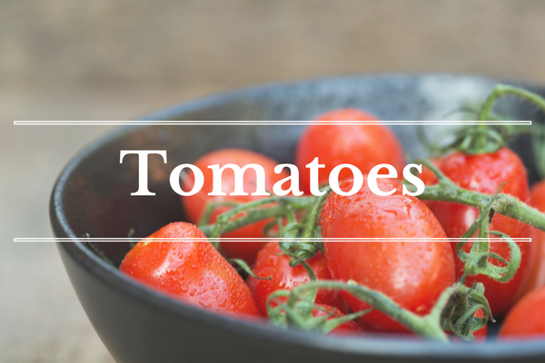 What's in Season: Tomatoes | BourbonandHoney.com -- From corn and eggplant to green beans and peaches this 'What's in Season' feature is a collection of the best fruits, veggies and recipes for the month of July.