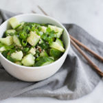 Easy Smashed Cucumber | BourbonandHoney.com -- This flavorful and super Easy Smashed Cucumbers recipe is a great way to use up all that summer bounty of garden veggies!