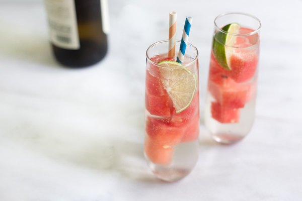 Fresh Watermelon White Wine Spritzer