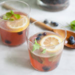 Bourbon and Honey Blueberry Smash Cocktail | BourbonandHoney.com -- Fresh, boozy and perfect for a crowd, this Bourbon and Honey Blueberry Smash Cocktail is ready for happy hour!