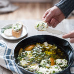 Baked Goat Cheese with Garlic and Herbs | BourbonandHoney.com -- This Baked Goat Cheese with Garlic and Herbs recipe is a quick and flavorful appetizer for a crowd. Besides being super easy, you can also make it ahead of time so you can really enjoy the party!